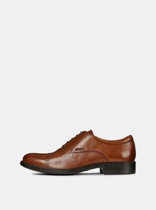 Pantofi barbatesti maro din piele Geox Carnaby
