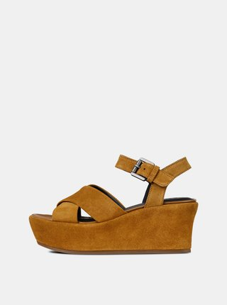 1dacba1c23 Hnedé dámske semišové sandále na platforme Geox Zerfie