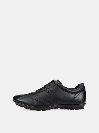 Pantofi sport barbatesti negri din piele Geox Lea