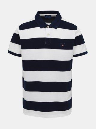 Bílo-modré pánské pruhované polo tričko GANT