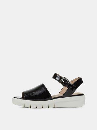 Čierne dámske sandále na platforme Geox Wimbley