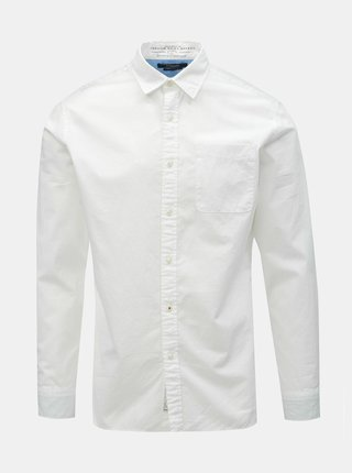 Bílá slim fit košile Jack & Jones Caleb