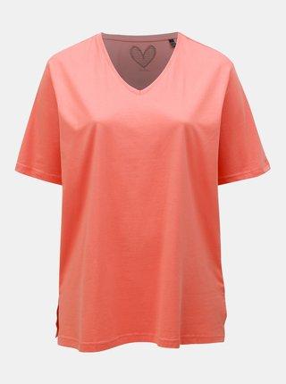Tricou basic oranj Ulla Popken