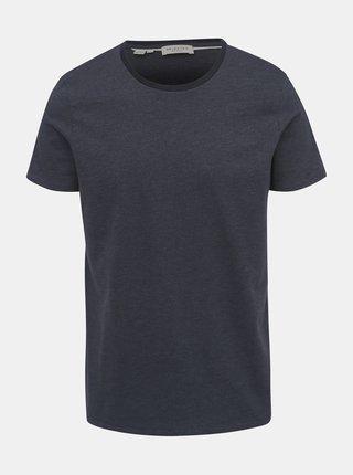 Tmavě šedé vzorované tričko Selected Homme Pete
