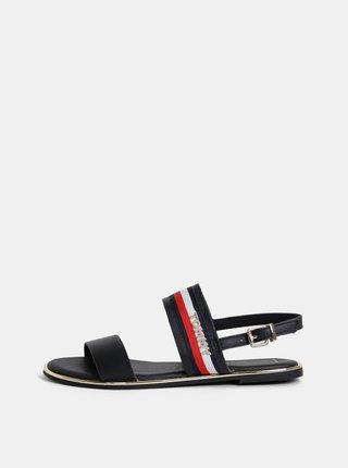 Tmavě modré dámské kožené sandály Tommy Hilfiger