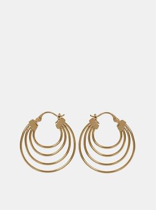 Kruhové náušnice ve zlaté barvě Pieces Cecilia