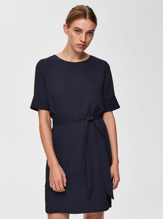 Tmavomodré šaty Selected Femme Dorit Tunni