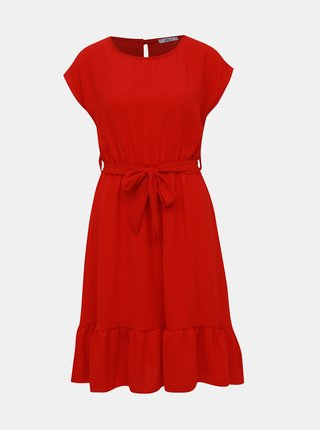 Červené šaty s volánom Haily´s Amy