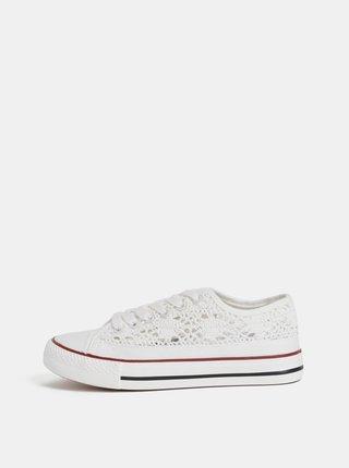 Bílé dámské krajkové tenisky Haily´s Lacy