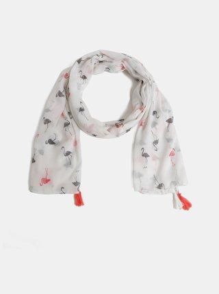 Krémový vzorovaný šátek Haily´s Funny