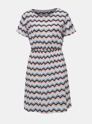 Bielo-modré vzorované šaty Haily´s Evi