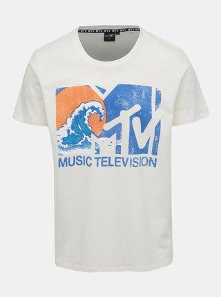 Krémové pánské tričko s potiskem Haily´s Music