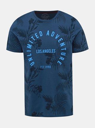 Modré vzorované tričko Jack & Jones Fun