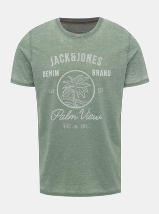 Zelené žíhané tričko Jack & Jones New Hero