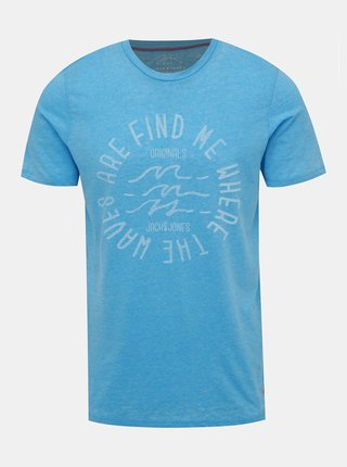 Modré žíhané tričko Jack & Jones New Hero