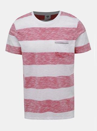 Červeno-bílé pruhované tričko Jack & Jones Stray