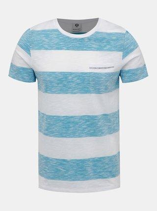 Modro-bílé pruhované tričko Jack & Jones Stray