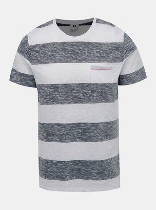 Šedo-bílé pruhované tričko Jack & Jones Stray
