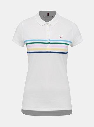 Biele dámské slim fit polo tričko Tommy Hilfiger
