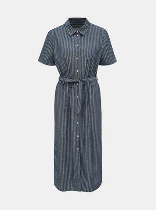 Tmavě modré pruhované košilové šaty Jacqueline de Yong Leila
