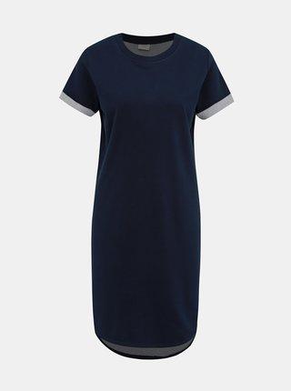 Tmavomodré mikinové basic šaty Jacqueline de Yong Ivy