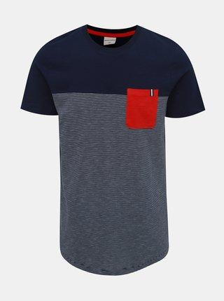 Tmavě modré tričko Jack & Jones Sect