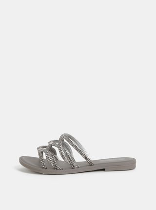 Pantofle ve stříbrné barvě Grendha Preciosiade