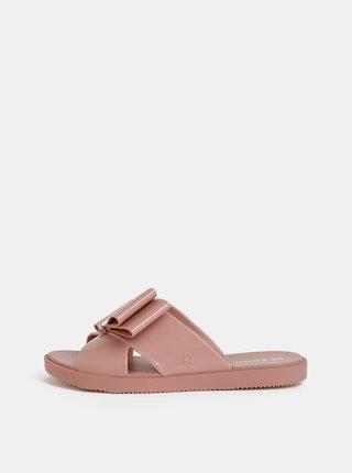 Starorůžové pantofle s mašlí Zaxy Connect Lush