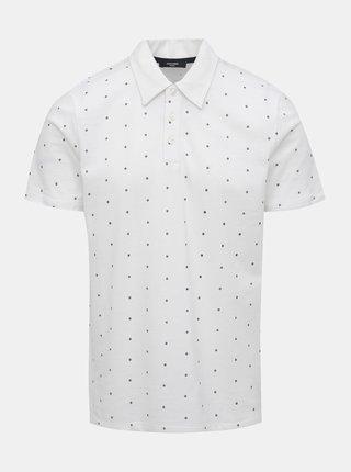 Bílé  vzorované polo tričko Jack & Jones Jay