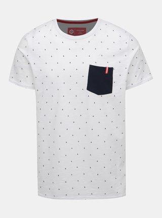 eaa830fc71 Bílé vzorované tričko Jack   Jones And