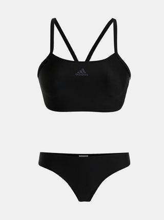 Čierne dámske dvojdielne plavky adidas Performance