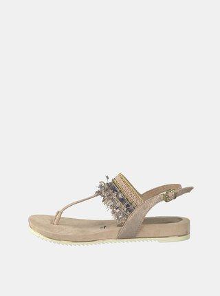 Světle růžové sandály s třásněmi Tamaris