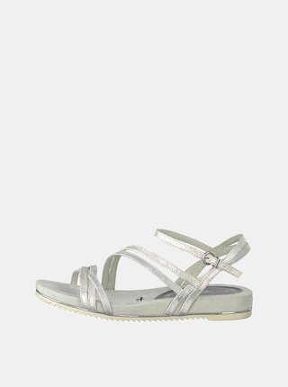 Světle šedé třpytivé sandály Tamaris