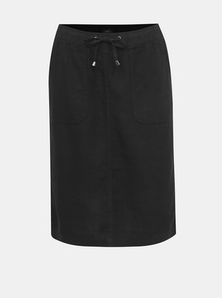 Černá lněná sukně M&Co