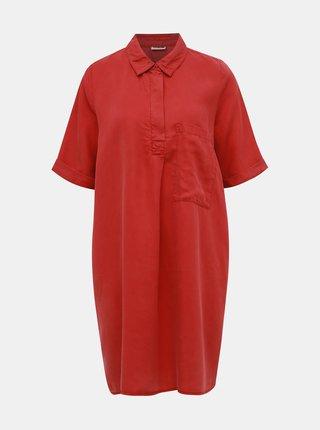 Cihlové košilové šaty s kapsou Noisy May Carly
