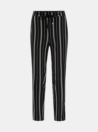 Čierne dámske pruhované nohavice M&Co