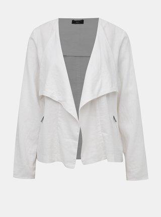 Bílé dámské lněné sako M&Co