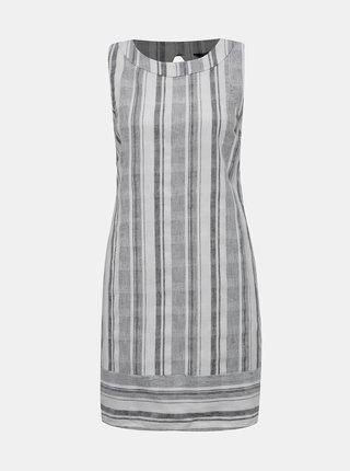 Bielo-šedé pruhované šaty M&Co Petite