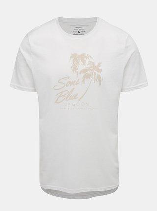 Bílé tričko s potiskem ONLY & SONS Next Burnout