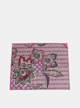 Rúžový vzorovaný uterák na ruky prAna Maha