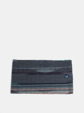 Modro-šedá pruhovaná čelenka prAna