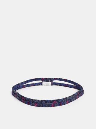 Růžovo-modrá vzorovaná čelenka prAna