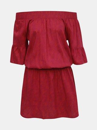 Tmavě růžové šaty s odhalenými rameny prAna Lenora