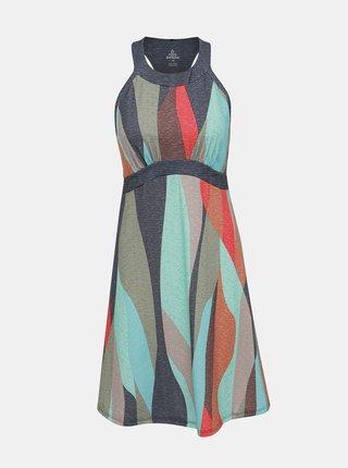 Šedo-modré vzorované šaty prAna Calexico