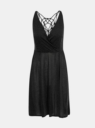 Tmavě šedé šaty s průstřihy prAna Delori