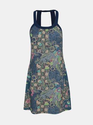 Tmavě modré vzorované šaty prAna Cantine