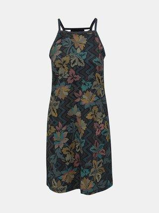 Černé květované šaty s průstřihy prAna Ardor