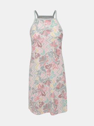Bílé květované šaty s průstřihy prAna Ardor