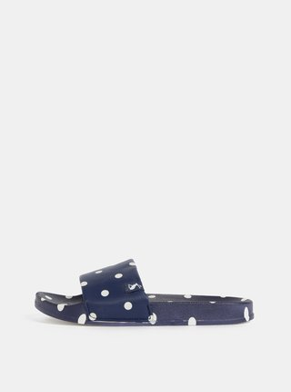 Tmavě modré dámské puntíkované pantofle Tom Joule Poolside