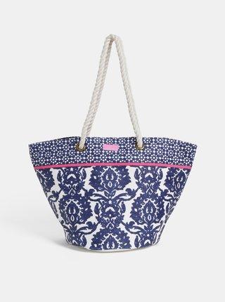 Modrá dámska vzorovaná plážová taška Tom Joule